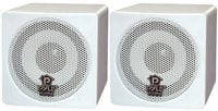 "1 Pair of 3.5"" White Cube Speakers"