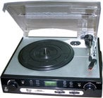 USB Belt Drive Turntable with Direct-To-Digital USB/SD Card Encoder and AM/FM Radio
