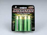 Interstate Battery DRY0020 Workaholic D Batteries, 2pk DRY0020