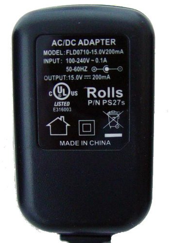 Rolls PS27S 15VDC 200MA 100-240VAC Adapter PS27S