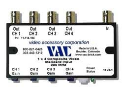 Video Accessory Corp 11-114-104 Video Distribution Amp 11-114-104