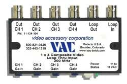 Video Accessory Corp 11-134-104 Video Distribution Amp 1X4 11-134-104