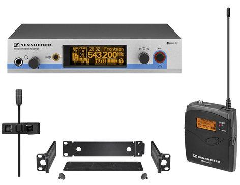 Sennheiser EW 512 G3 Wireless Bodypack Microphone System with MKE 2 Clip-On Condenser Microphone EW512-G3