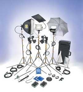 Lowel Light Mfg DVP-94 DV PRO Lighting Kit with Hard Case DVP-94