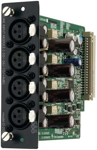 TOA D-2000AD1 Input Module, 4 Channel Analog D2000AD1