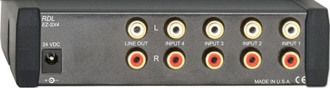 RDL EZ-SX4 4x1 Stereo Audio Input Switcher EZ-SX4