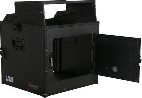 Odyssey FRGS808BL Black Label Flight Ready Glide-Style Combo Rack Case, 8RU Top, 8RU Bottom FRGS808BL