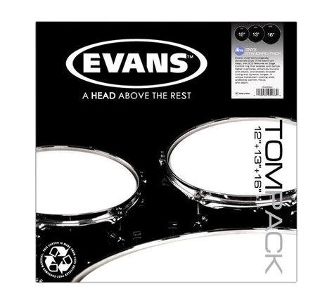 "Evans ETP-ONX2-S Tompack 3-Pack of Onyx 2 Standard Drumheads: 12"",13"",16"" ETP-ONX2-S"