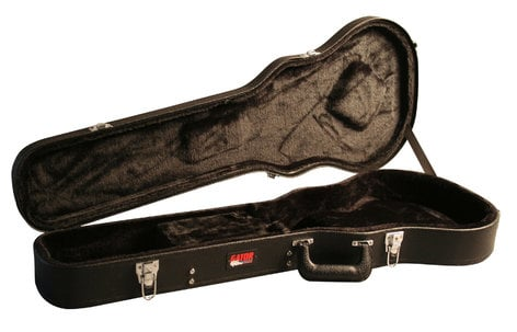 Gator Cases GW-LPS Deluxe Wooden Vintage-Style Electric Guitar Case for Single-Cutaway Guitars GW-LPS