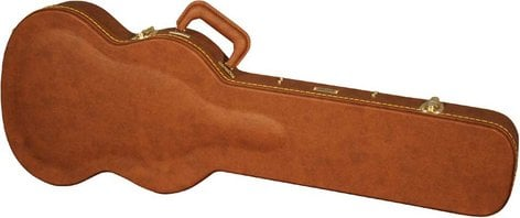 Gator Cases GW-SG-BROWN Deluxe Wooden Hardshell Electric Guitar Case for Double-Cutaway Guitars GW-SG-BROWN