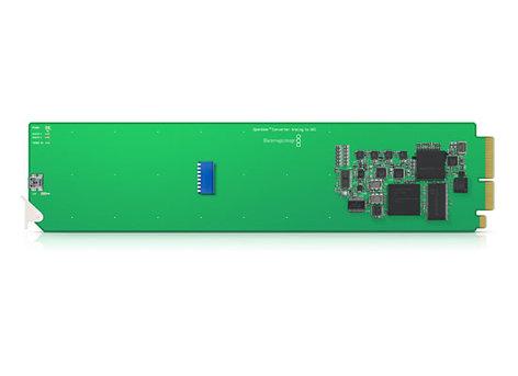 Blackmagic Design CONVOPENGAAS OpenGear Converter - Analog YUV/S-Video/Composite to SDI/HD-SDI with AES/EBU or Analog Audio CONVOPENGAAS
