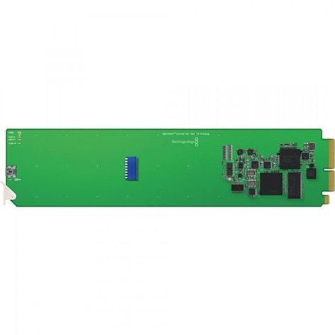 Blackmagic Design CONVOPENGASA OpenGear Converter - SDI/HD-SDI to Analog YUV/S-Video/Comp with D/Conv and AES/Analog Audio CONVOPENGASA