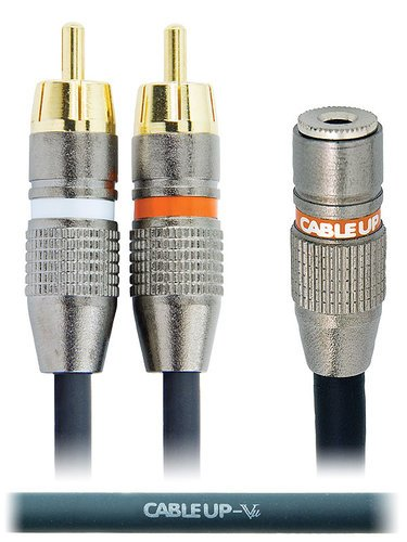 "Cable Up by Vu YS-MF3-RMD-10 10 ft 1/8"" TRS Female to Dual RCA Male Send/Return Y-Cable YS-MF3-RMD-10"