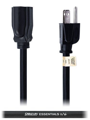 Cable Up by Vu ED-ED-14-1.5 1.5 ft 14 AWG Power Extension Cable ED-ED-14-1.5