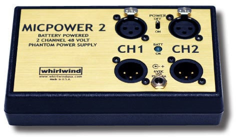Whirlwind MICPOWER-2  Phantom Power Supply, 48v (MICP2) MICPOWER-2