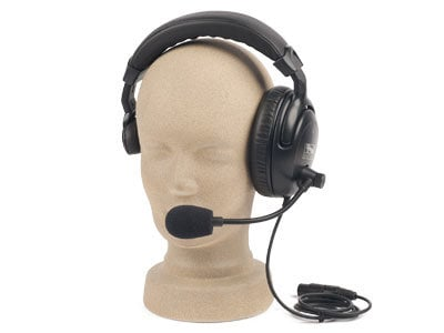 Dual Muff Headset with Mic for PortaCom//ProLink Anchor Audio H-2000