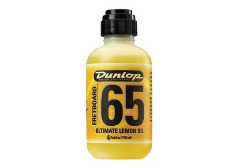 Dunlop Manufacturing 6554 4 oz Bottle of Fretboard 65 Lemon Oil with Applicator 6554