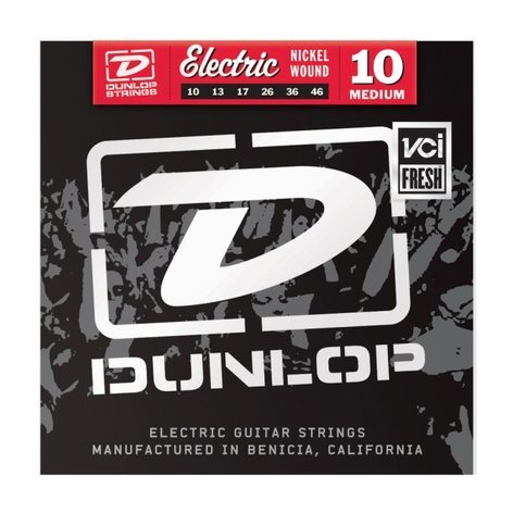 Dunlop Manufacturing DEN1046 Medium Nickel Wound Electric Guitar Strings DEN1046