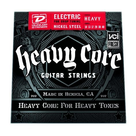 Dunlop Manufacturing Heavy Core Electric Guitar Strings Heavy Strings, Elec 10-48 Heavy 6/st  DHCN1048