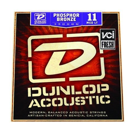 Dunlop Manufacturing 1152 Medium Light Phosphor Bronze Acoustic Guitar Strings DAP1152