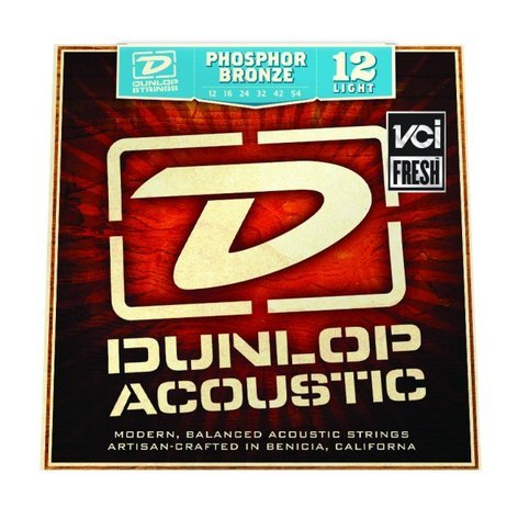 Dunlop Manufacturing 1254 Light Phosphor Bronze Acoustic Guitar Strings DAP1254