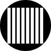 Rosco 79655 Vertical Jail Bars Gobo 79655