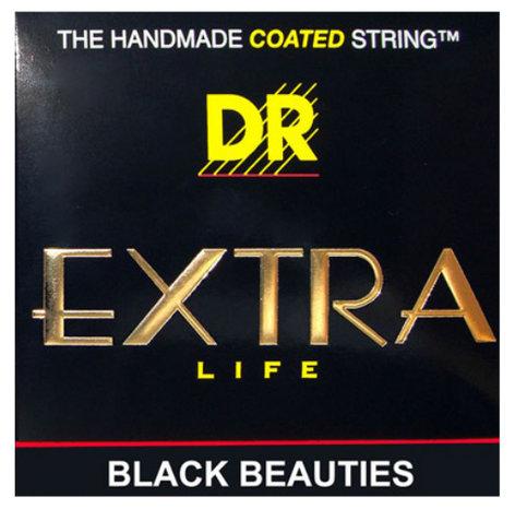 DR Strings BKE-10 Medium Extra Life Black Beauties Coated Electric Guitar Strings BKE-10