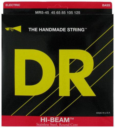 DR Strings MR5-45 Medium Hi Beam 5-String Electric Bass Strings MR5-45
