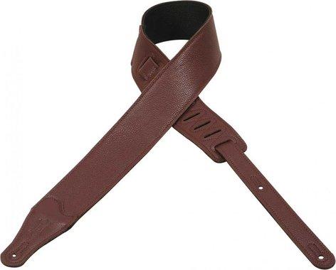 "Levys Leathers M26BL Guitar Strap, 2 1/2"" Garment Leather M26BL"