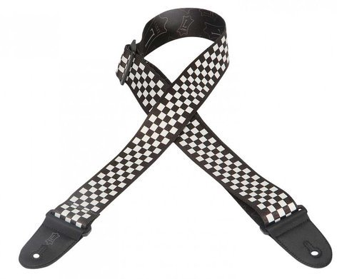 """Levys Leathers MP-28 Guitar Strap, 2"""" Polyester with Printed Checkerboard Design MP-28"""