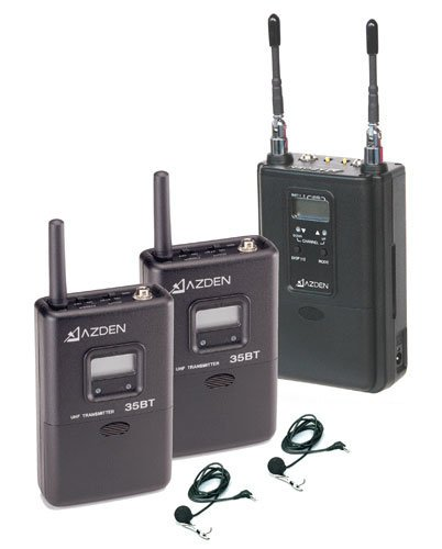 Azden 330LT  Dual-Channel UHF twin Body-Pack Combo System 330LT