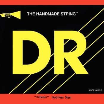 DR Strings MR6-30  Bass Strings, Hi-Beam Stainless Steel, Extra-Long Scale, Medium 6-String 30-125 MR6-30