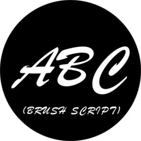 brush script capitals gobo letter d size b for altman 360q by
