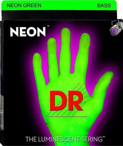 DR Strings NGB-45 Medium NEON HiDef SuperStrings Electric Bass Strings in Green NGB-45