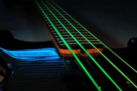 DR Strings NGB5-45 Bass Strings, NEON HiDef Green SuperStrings, 5-String Medium 45-105 NGB5-45