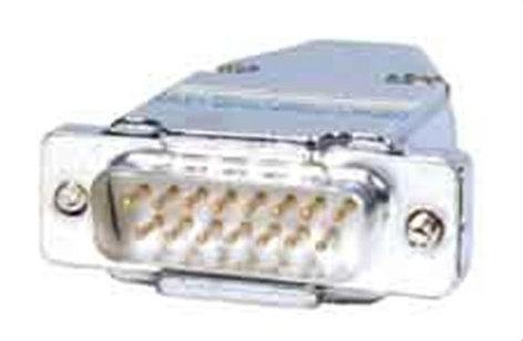Comprehensive DB15M  Connector, DB15 Plug w/Hood  DB15M