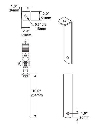 ETC/Elec Theatre Controls MPARHBK MultiPar Source Four Hanger Bracket Kit MPARHBK