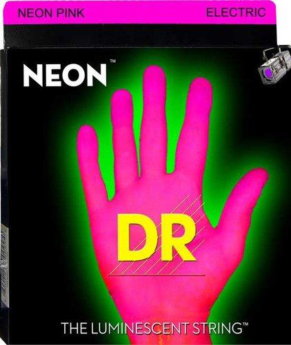 DR Strings NPE-11 Heavy NEON HiDef SuperStrings Electric Guitar Strings in Pink NPE-11