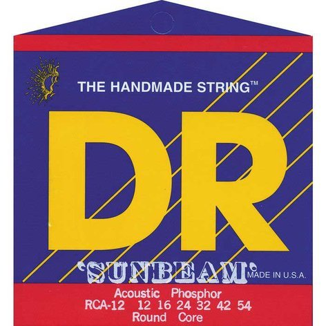 DR Strings RCA-12 Medium Sunbeam Phosphor Bronze Acoustic Guitar Strings RCA-12