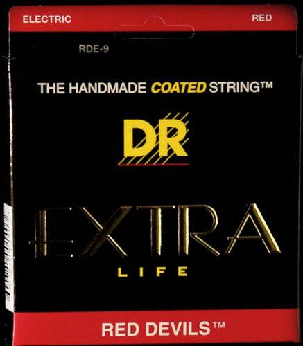 DR Strings RDE-9/46 Lite-N-Heavy Red Devils Coated Electric Guitar Strings RDE-9/46