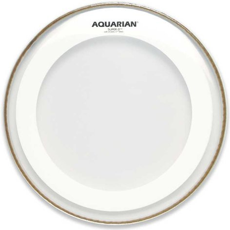 "Aquarian Drumheads MRS2-14 14"" Super-2 Clear Drum Head with Studio-X Ring MRS2-14-AQUARIAN"