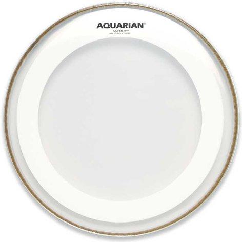"Aquarian Drumheads MRS2-8 8"" Super-2 Clear Drum Head with Studio-X Ring MRS2-8-AQUARIAN"