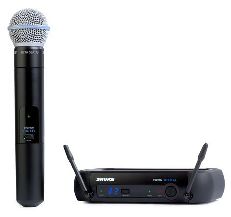Shure PGXD24/BETA58 Digital Wireless Handheld Microphone System with BETA58A Microphone PGXD24/BETA58