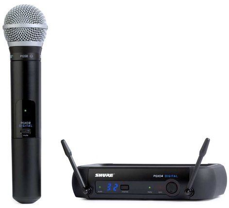 Shure PGXD24/PG58 Wireless Digital Microphone System with PG58 Microphone PGXD24/PG58