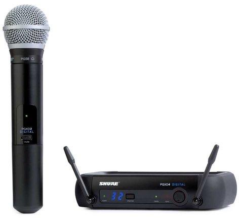 Shure PGXD24/PG58 WirelessDigitalMicrophoneSystem with PG58 Microphone PGXD24/PG58