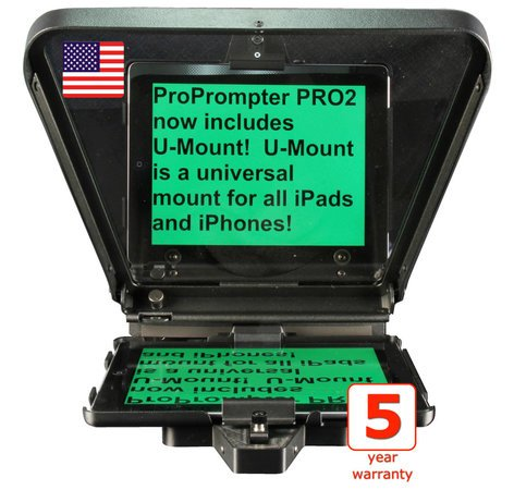 ProPrompter PP-HD-I-PRO2 Teleprompter for iPad, iPad2 PP-HD-I-PRO2