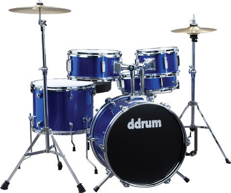ddrum d1 5 Piece Junior Drum Kit with Hardware & Cymbals in Police Blue D1-POLICE-BLUE