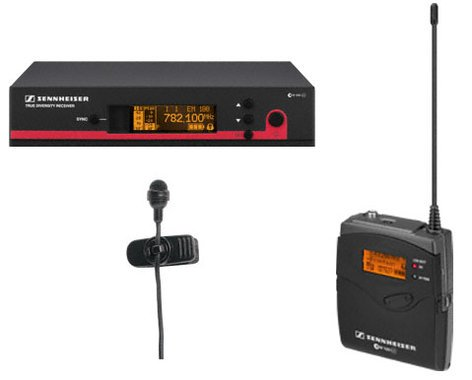 Sennheiser ew 122 G3 CC Wireless Bodypack Microphone System with ME4 Lavalier and Rackmount Kit EW122-G3-CC