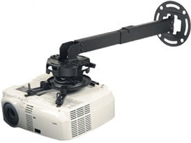 """Peerless PRG-EXA-W White Precision Gear 17""""-25"""" Adjustable Projector Ceiling/Wall Mount - 50lbs. Weight Capacity PRG-EXA-W"""