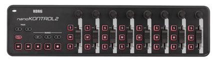 Korg NANO KONTROL 2 Slim-line USB-MIDI Controller, Black NANOKONTROL2-B